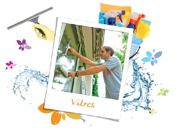 Des vitres propres toute l'année, des encadrements entretenus